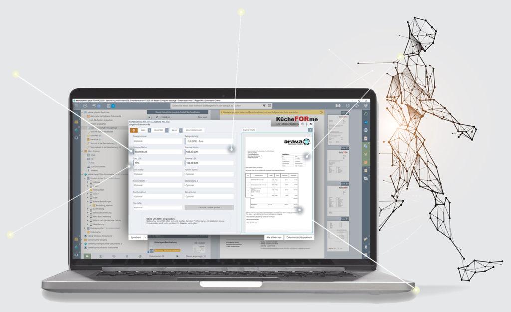 PIA AutoFill выполняет поиск наиболее важных данных документа, интеллектуально считывает их, а затем автоматически индексирует документ.